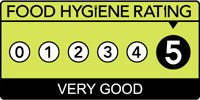 5 Star food hygiene rating - click to view details.